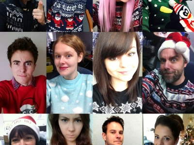 Christmas jumper montage