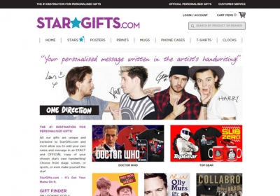 Star Gifts Homepage