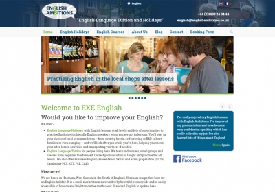 English Ambitions Website