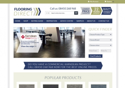 Flooring Direct homepage