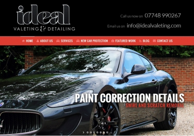 Ideal Valeting Website