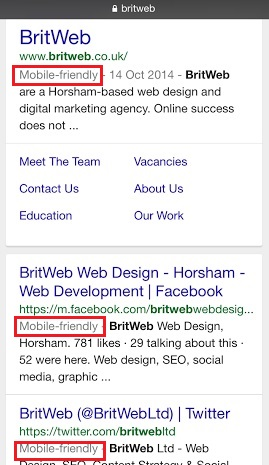 britweb mobile friendly label