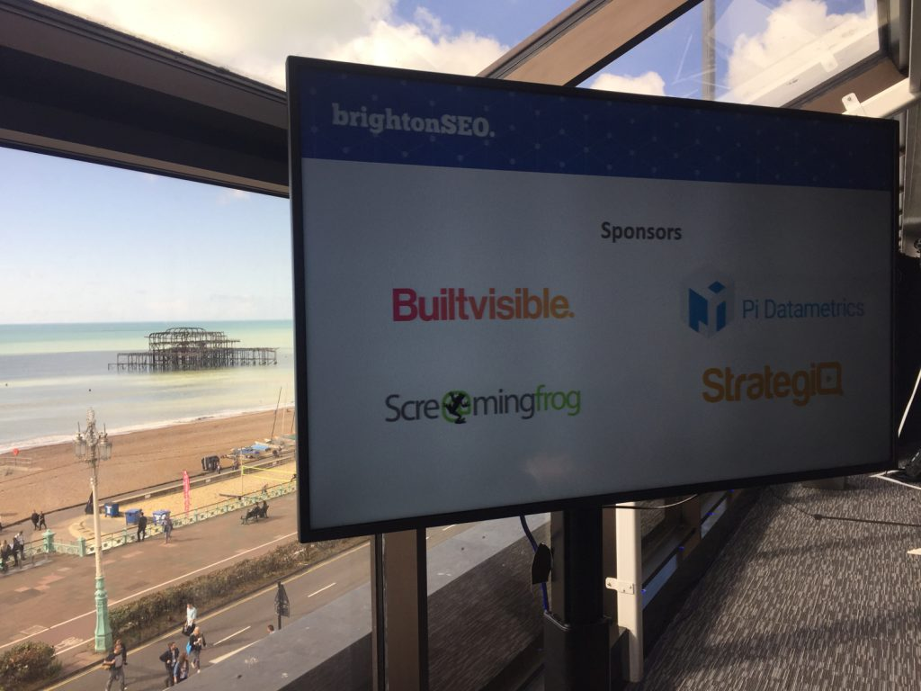 Brighton SEO Talk Screen