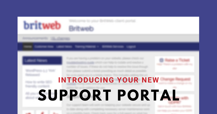 Introducing the BritWeb Support Portal